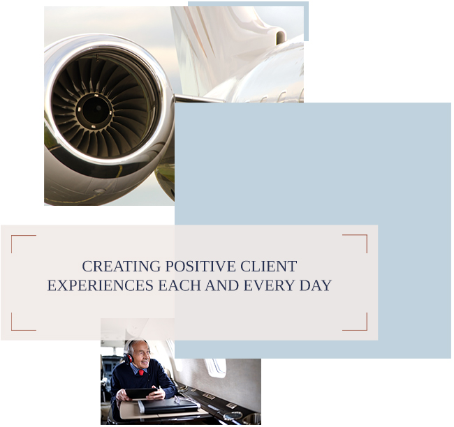 KJET. Aircraft Management Company. Creating Positive Client Experiences Every Day