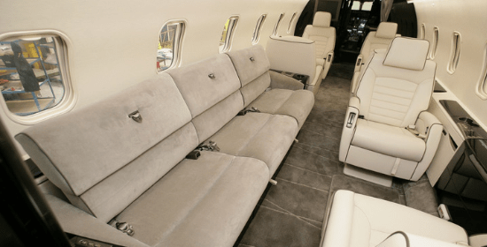 Aircraft interior design. From planning and layout design to 3D visualisation and installation, our partners at Farnborough Aircraft Interiors will give your aircraft a new lease of life.