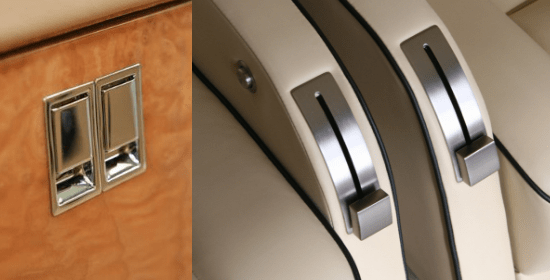 Aircraft Interiors - Various metal finishes for aircraft