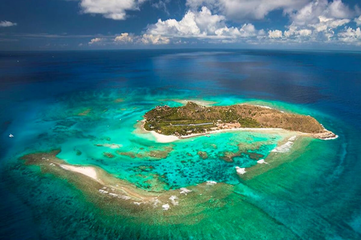 THE MOST BEAUTIFUL PLACES TO VISIT IN THE WORLD BY PRIVATE JET AFTER COVID-19. Necker Island - one of the few places on Earth that's only accessible by private jet.