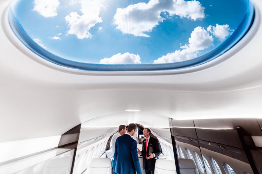 Dassault Falcon 6x - Skylight