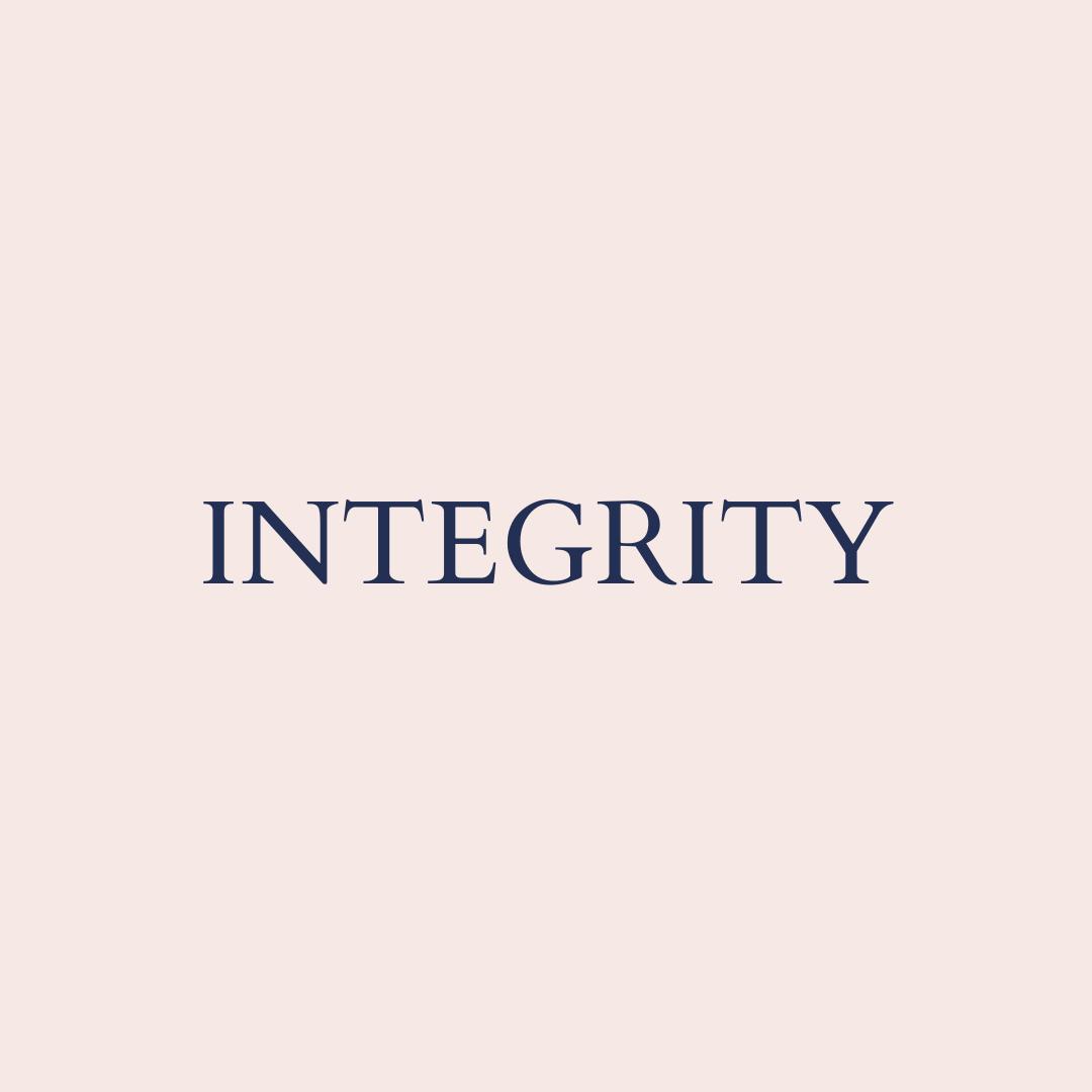 Integrity core value