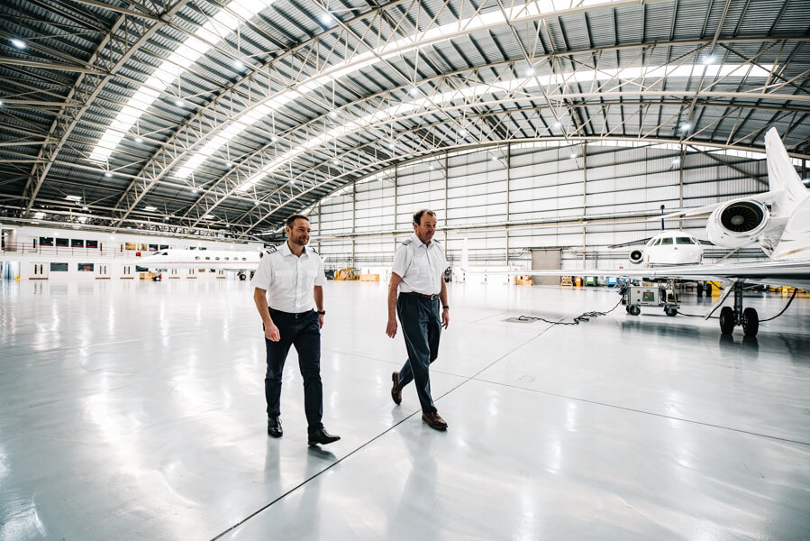 Charlie and Alan - KJET Aircraft Management Pilots